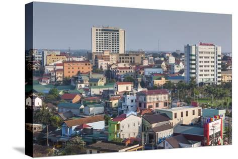 Vietnam, Dmz Area. Dong Ha, Elevated City View-Walter Bibikow-Stretched Canvas Print