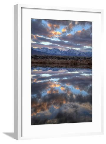 California, Owens Valley. Sierra Crest Seen from Buckley Ponds at Sunset-Jaynes Gallery-Framed Art Print