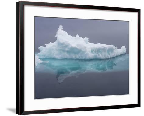 Arctic Ocean, Norway, Svalbard. Iceberg Reflects in Ocean-Jaynes Gallery-Framed Art Print