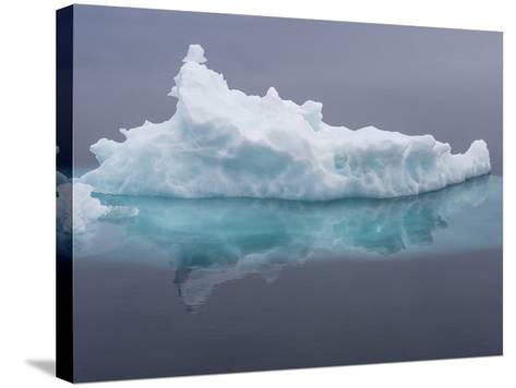 Arctic Ocean, Norway, Svalbard. Iceberg Reflects in Ocean-Jaynes Gallery-Stretched Canvas Print