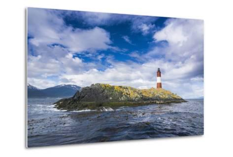 Lighthouse , the Beagle Channel, Ushuaia, Tierra Del Fuego, Argentina, South America-Michael Runkel-Metal Print