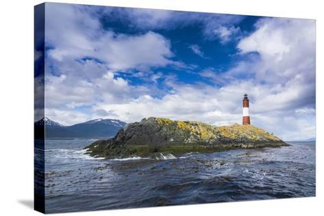 Lighthouse , the Beagle Channel, Ushuaia, Tierra Del Fuego, Argentina, South America-Michael Runkel-Stretched Canvas Print