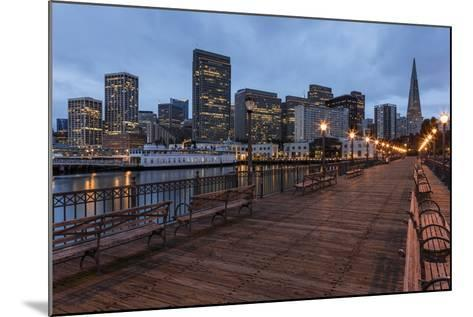 Looking to the Skyline from Pier on the Embarcadero in San Francisco, California, Usa-Chuck Haney-Mounted Photographic Print