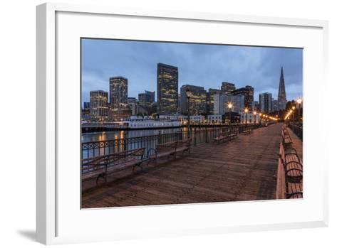 Looking to the Skyline from Pier on the Embarcadero in San Francisco, California, Usa-Chuck Haney-Framed Art Print