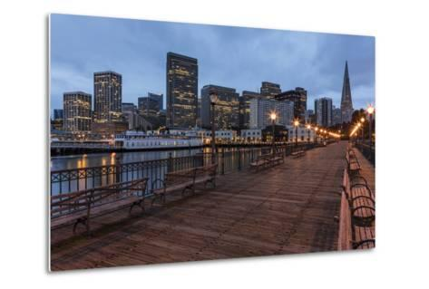 Looking to the Skyline from Pier on the Embarcadero in San Francisco, California, Usa-Chuck Haney-Metal Print
