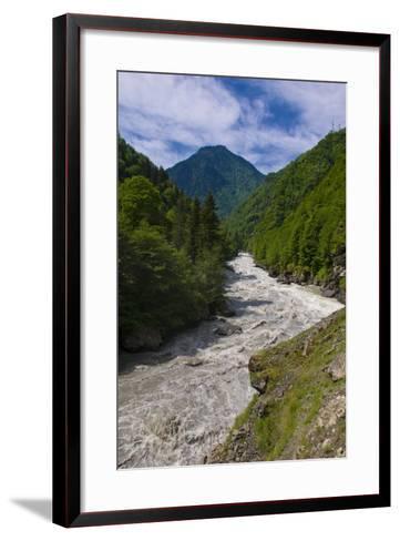 Patara Enguri River in Samegrelo-Zemo Svaneti Region, Georgia-Michael Runkel-Framed Art Print