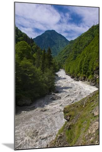 Patara Enguri River in Samegrelo-Zemo Svaneti Region, Georgia-Michael Runkel-Mounted Photographic Print