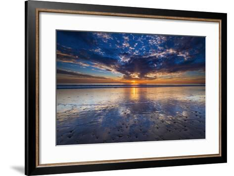 Sunset over the Channel Islands from Ventura State Beach, Ventura, California, Usa-Russ Bishop-Framed Art Print