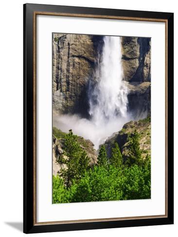 Detail of Upper Yosemite Fall, California, Usa-Russ Bishop-Framed Art Print