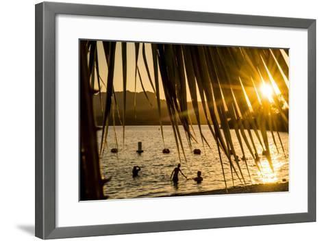Arizona, Rte 66 Expedition, Cattail Cove State Park on Lake Havasu at Sunset-Alison Jones-Framed Art Print