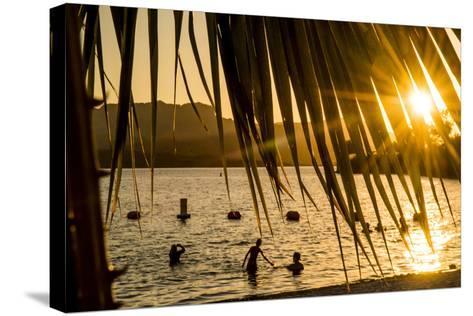 Arizona, Rte 66 Expedition, Cattail Cove State Park on Lake Havasu at Sunset-Alison Jones-Stretched Canvas Print