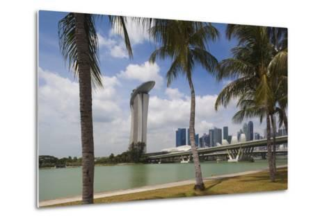 Singapore, City Seen from the Waterfront-Walter Bibikow-Metal Print