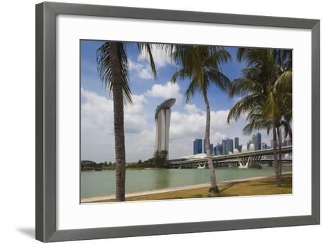 Singapore, City Seen from the Waterfront-Walter Bibikow-Framed Art Print