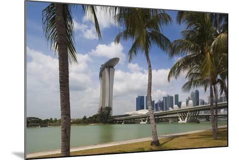 Singapore, City Seen from the Waterfront-Walter Bibikow-Mounted Photographic Print