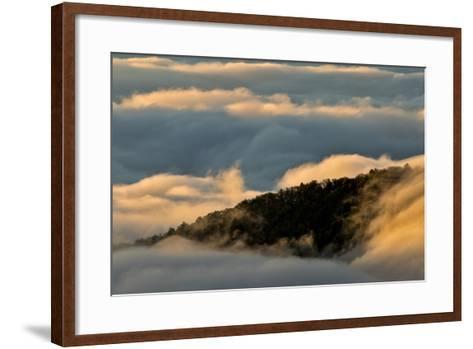 Sunrise and Mountain Mist, North Carolina-Adam Jones-Framed Art Print