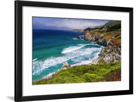 The Big Sur Coast at Rocky Point, Big Sur, California, Usa-Russ Bishop-Framed Art Print
