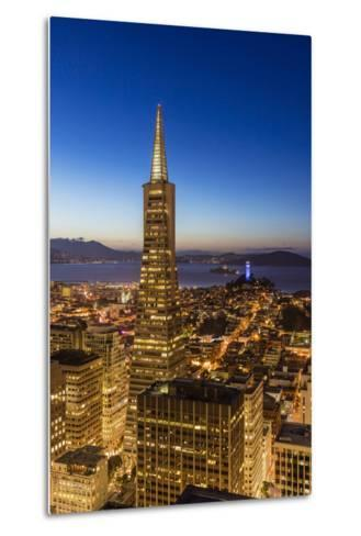 City View from the High Up, San Francisco, California, Usa-Chuck Haney-Metal Print