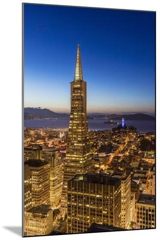 City View from the High Up, San Francisco, California, Usa-Chuck Haney-Mounted Photographic Print