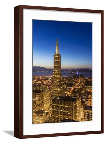 City View from the High Up, San Francisco, California, Usa-Chuck Haney-Framed Art Print