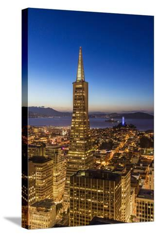 City View from the High Up, San Francisco, California, Usa-Chuck Haney-Stretched Canvas Print