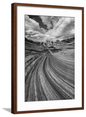 A Small Pool and Geological Formations Found at Vermillion Cliffs National Monument-Judith Zimmerman-Framed Art Print