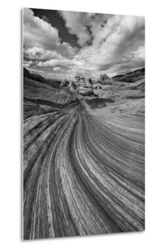 A Small Pool and Geological Formations Found at Vermillion Cliffs National Monument-Judith Zimmerman-Metal Print
