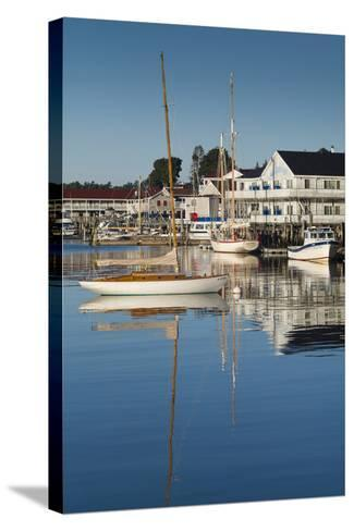 Maine, Boothbay Harbor, Harbor View-Walter Bibikow-Stretched Canvas Print