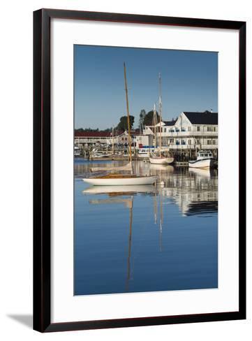 Maine, Boothbay Harbor, Harbor View-Walter Bibikow-Framed Art Print