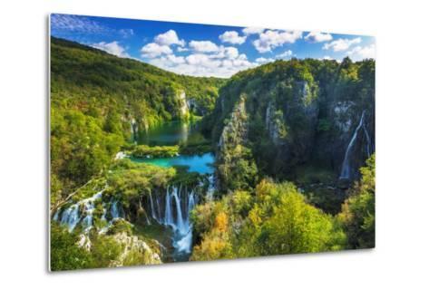 Travertine Cascades on the Korana River, Plitvice Lakes National Park, Croatia-Russ Bishop-Metal Print