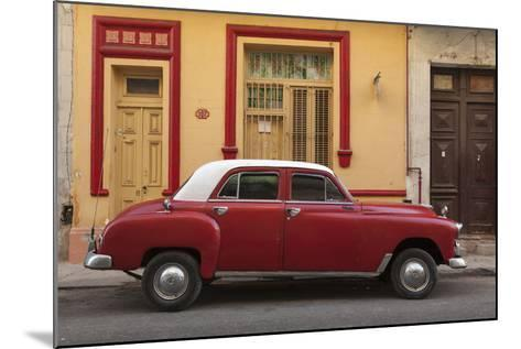 Cuba, Havana. Classic Car Parked on the Street-Brenda Tharp-Mounted Photographic Print