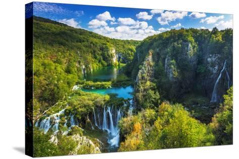Travertine Cascades on the Korana River, Plitvice Lakes National Park, Croatia-Russ Bishop-Stretched Canvas Print