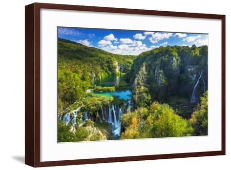 Travertine Cascades on the Korana River, Plitvice Lakes National Park, Croatia-Russ Bishop-Framed Art Print