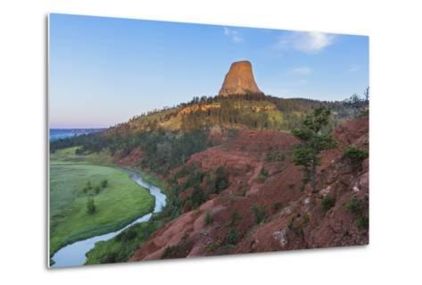 The Belle Fourche River Run Below Devils Tower National Monument, Wyoming, Usa-Chuck Haney-Metal Print
