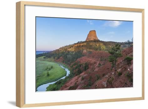 The Belle Fourche River Run Below Devils Tower National Monument, Wyoming, Usa-Chuck Haney-Framed Art Print
