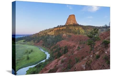 The Belle Fourche River Run Below Devils Tower National Monument, Wyoming, Usa-Chuck Haney-Stretched Canvas Print