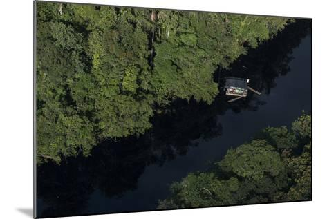 Houseboat on River. Potaro-Siparuni Region. Brazil, Guyana Border, Guyana-Pete Oxford-Mounted Photographic Print
