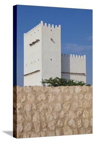 Qatar, Umm Salal Mohammed, 19th Century Barzan Tower and Fort-Walter Bibikow-Stretched Canvas Print