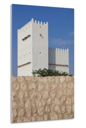 Qatar, Umm Salal Mohammed, 19th Century Barzan Tower and Fort-Walter Bibikow-Metal Print