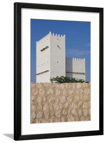 Qatar, Umm Salal Mohammed, 19th Century Barzan Tower and Fort-Walter Bibikow-Framed Art Print