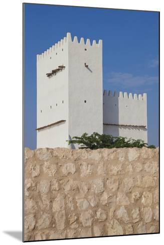 Qatar, Umm Salal Mohammed, 19th Century Barzan Tower and Fort-Walter Bibikow-Mounted Photographic Print