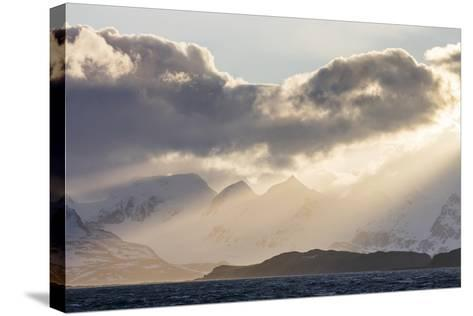 South Georgia Island, Bay of Isles. Storm Clouds over Mountains at Sunset-Jaynes Gallery-Stretched Canvas Print