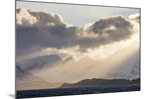 South Georgia Island, Bay of Isles. Storm Clouds over Mountains at Sunset-Jaynes Gallery-Mounted Photographic Print