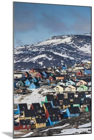 Greenland, Disko Bay, Ilulissat, Elevated Town View-Walter Bibikow-Mounted Photographic Print