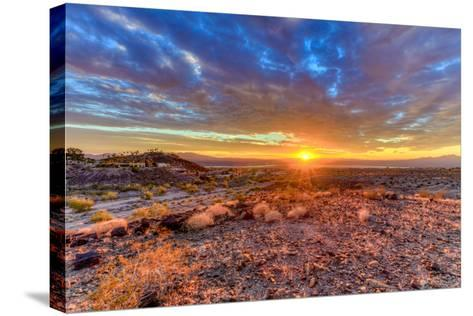 Arizona, Lake Havasu City. Sunset on Desert-Jaynes Gallery-Stretched Canvas Print