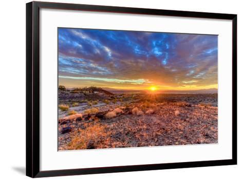 Arizona, Lake Havasu City. Sunset on Desert-Jaynes Gallery-Framed Art Print