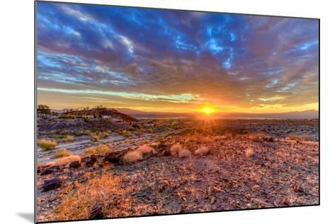 Arizona, Lake Havasu City. Sunset on Desert-Jaynes Gallery-Mounted Photographic Print