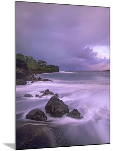 Black Sand Beach, Waianapanapa State Park, Maui, Hawaii, Usa-Tim Fitzharris-Mounted Photographic Print
