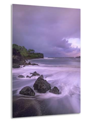 Black Sand Beach, Waianapanapa State Park, Maui, Hawaii, Usa-Tim Fitzharris-Metal Print