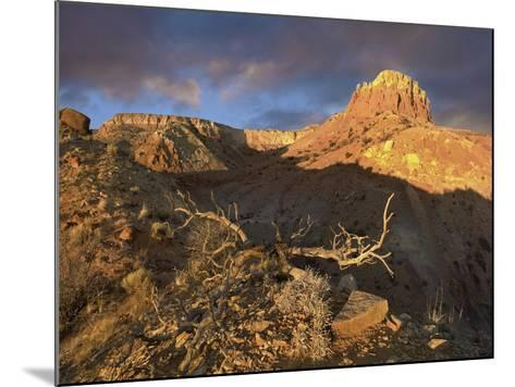 Red Mesa Near Abiquiu at Sunset, New Mexico, Usa-Tim Fitzharris-Mounted Photographic Print