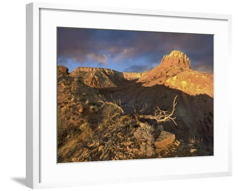 Red Mesa Near Abiquiu at Sunset, New Mexico, Usa-Tim Fitzharris-Framed Art Print
